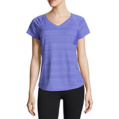 Xersion Short Sleeve Crew Neck T-Shirt-Womens
