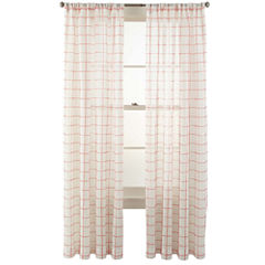 MarthaWindow™ Windowpane Rod-Pocket Sheer Panel
