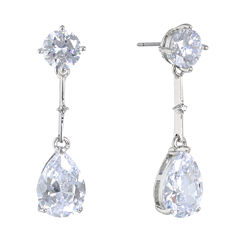 Monet Jewelry The Bridal Collection Clear Cubic Zirconia Drop Earrings