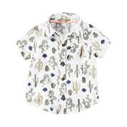 Carter's Short Sleeve Button-Front Shirt Boys