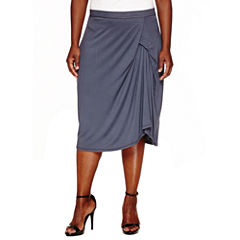 Worthington® Knit Draped Pencil Skirt - Plus