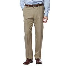 Haggar® eCLo™ Stria Classic-Fit Flat-Front Dress Pants