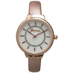 Olivia Pratt Metallic Womens Rose Goldtone Bangle Watch-13990
