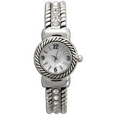 Olivia Pratt Womens Silver Tone Bangle Watch-10034