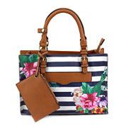 Olivia Miller Adrika Floral Stripe Tote Bag