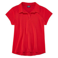 Izod Exclusive Short Sleeve Solid Pique Polo Shirt - Big Kid Girls