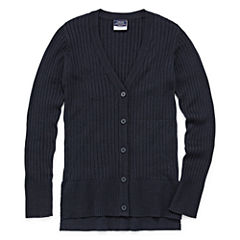 Izod Exclusive V Neck Long Sleeve Knit Cardigan - Big Kid