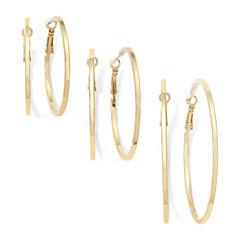 Decree® Gold-Tone 3-pr. Hoop Earring Set