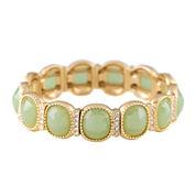 Monet® Gold-Tone Crystal & Green Stone Stretch Bracelet