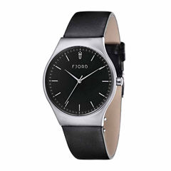 fjord men s watches for jewelry watches jcpenney fjord mens black strap watch fj 3026 01