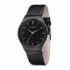 Fjord Mens Black Strap Watch-Fj-3026-03