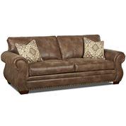 Burk Faux-Leather Sofa