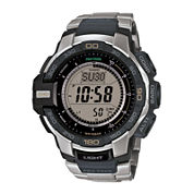 Casio® ProTrek Mens Stainless Steel Strap Solar Chronograph Watch PRG270D-7CR
