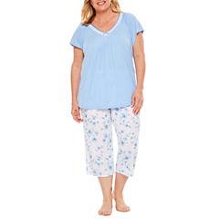 Adonna Capri Pajama Set-Plus