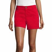 Liz Claiborne Woven Chino Shorts-Talls