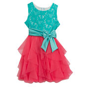 Rare Editions Sleeveless Fit & Flare Dress - Big Kid Girls