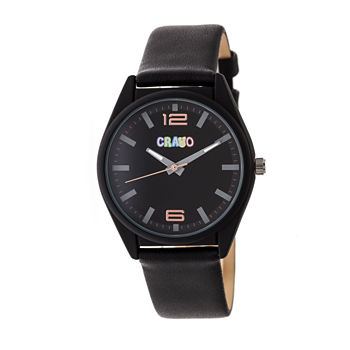 Crayo Unisex Adult Black Strap Watch cracr4802
