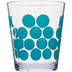 Zak Designs® Dot Set of 6 Plastic Double Old-Fashioned Glasses