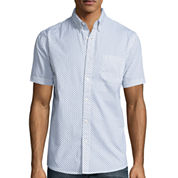 Lee® Short-Sleeve Comfort Poplin Button-Front Shirt
