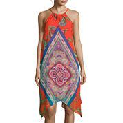 My Michelle® Sleeveless Printed High-Low Hem Dress