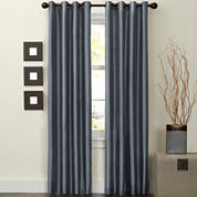 Jardin Faux-Silk Thermal Grommet-Top Curtain Panel