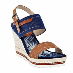 Henry Ferrera Franca Womens Wedge Sandals