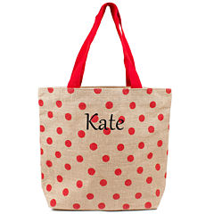 Cathy's Concepts Personalized Polka Dot Tote