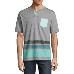 Distortion Short Sleeve Round Neck T-Shirt
