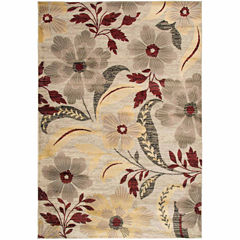 Rizzy Home Bay Side Floral Rectangular Runner