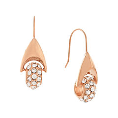 nicole by Nicole Miller® Crystal Rose Gold-Tone Pave Earrings