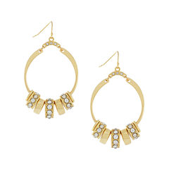 nicole by Nicole Miller® Gold-Tone Crystal Hoop Earrings
