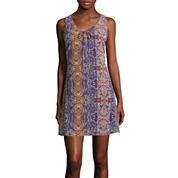 Speechless® Sleeveless Lace-Up Chiffon A-Line Dress