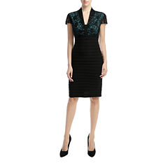 Phistic Vanessa Short Sleeve Sheath Dress-Plus