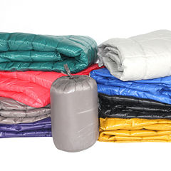 PUFF 50x 60 High Loft Down Indoor Outdoor Water Resistant Throw with Extra Strong Nylon Cover