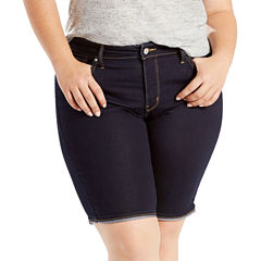 Levi's Fitted Knit Bermuda Shorts-Plus