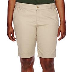 Arizona Schoolgirl Bermuda Shorts - Juniors Plus