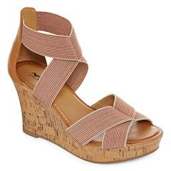 Arizona Mulberry Womens Wedge Sandals