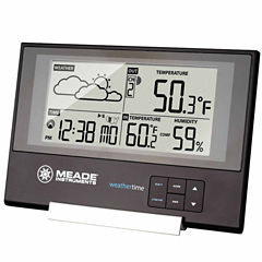 Meade Instruments TE346W Slim Line Personal Weather Station with Atomic Clock and Time/Temp/Forecast
