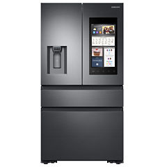 Samsung 22.2 cu. ft. Counter-Depth Family Hub™ 4-Door French-Door Refrigerator with Recessed Handles