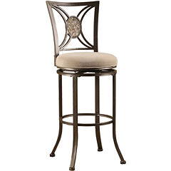 Duncan Swivel Barstool with Back