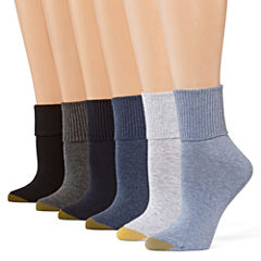 GoldToe® 6-pk. Turn-Cuff Crew Socks