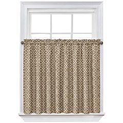 Waverly® Lovely Lattice Rod-Pocket Window Tiers