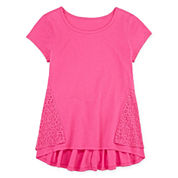 Total Girl® Short-Sleeve Solid Peplum Tee - Girls 7-16 and Plus