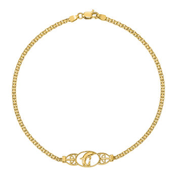 14k Gold 9 Inch Ankle Bracelet