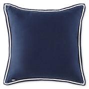 IZOD® Navy Square Decorative Pillow