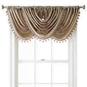Liz Claiborne® Gallery Taffeta Rod-Pocket Waterfall Valance
