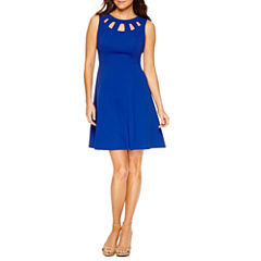 Alyx Sleeveless Fit & Flare Dress-Petites