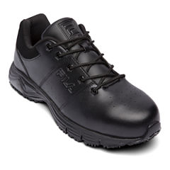 Fila® Memory Breach Mens Steel Toe Slip Resistant Work Shoes