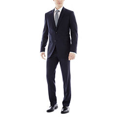 JF J. Ferrar Navy Variegated Stripe Slim-Fit Suit Separates