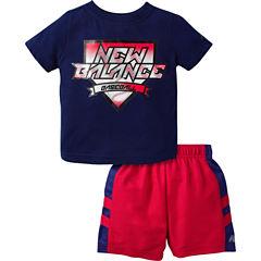 New Balance 2-pc. Short Set Baby Boys